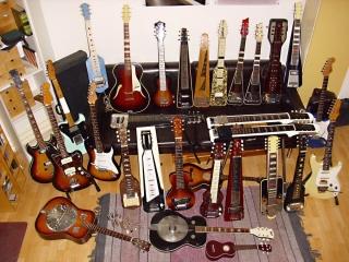 Peter seine Gitarren